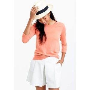 J. Crew Merino Wool Tippi Sweater Coral Orange S